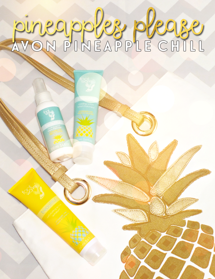 Avon Foot Works Pineapple Chill Scrub, Lotion, and Colling Spray (1)
