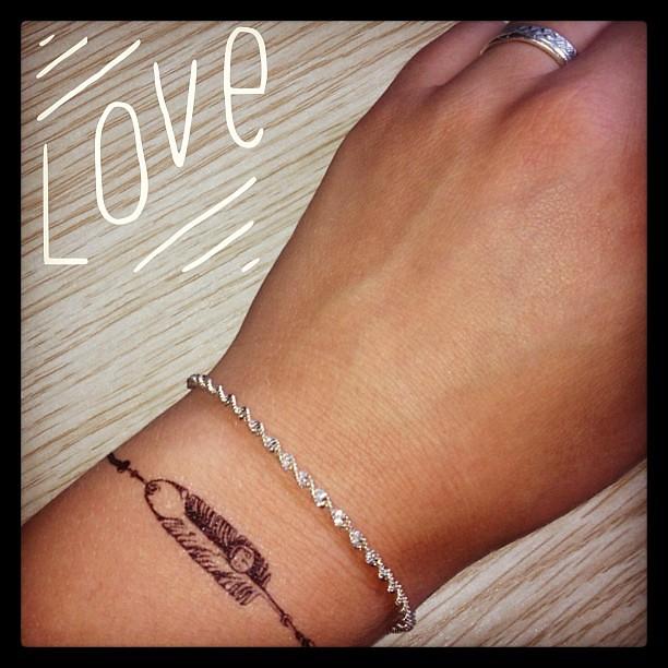 Bien-aimé Love Tatoo ! #tatouage #bracelet #plume #mylittlebox | Flickr QK35