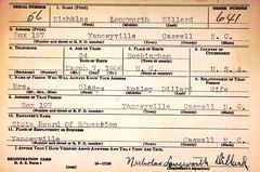 U.S.WWIIDraftCardsYoungMen1940-1947ForNicholasLongworthDillard