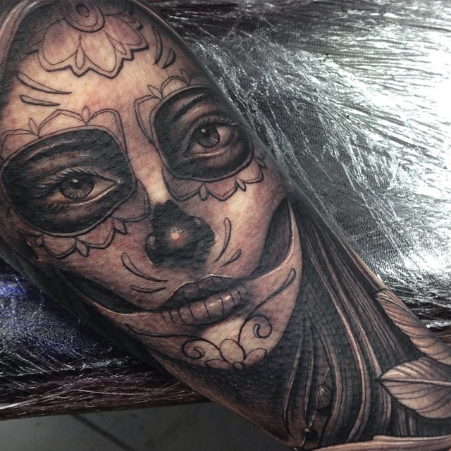 Day Of The Dead Girl Tattoo By Craig Holmes @ Iron Horse T