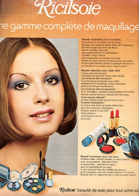 The 1970s-1973 ad for Ricilsoie makeup - Flickr - Photo ...