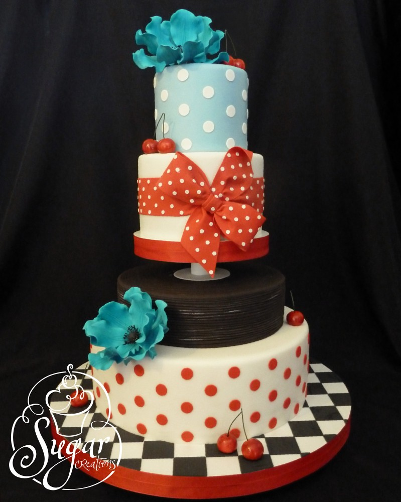 Retro Birthday Cake Designs