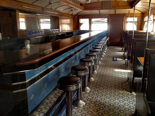 The Rosebud Diner Interior - Davis Square Somerville MA