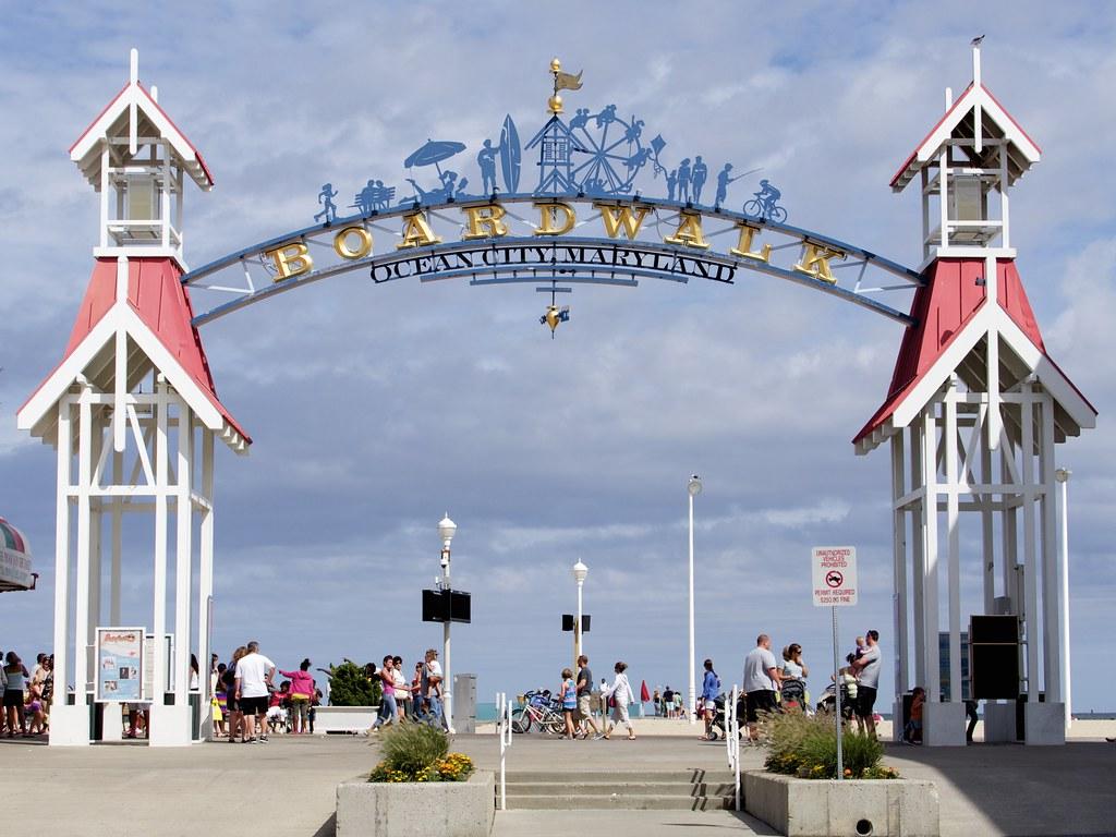 Boardwalk Sign Ocean City Maryland Austin Kirk Flickr
