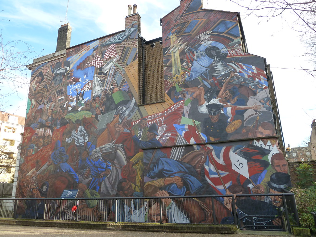 Battle of cable street mural mural of the battle of for Cable street mural