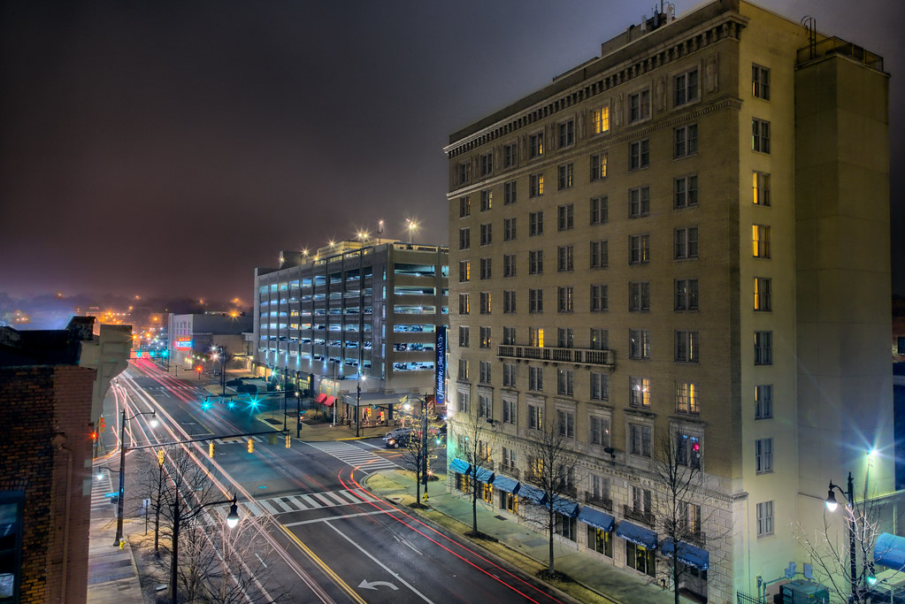 downtown fog approaching montgomery al overlooking. Black Bedroom Furniture Sets. Home Design Ideas