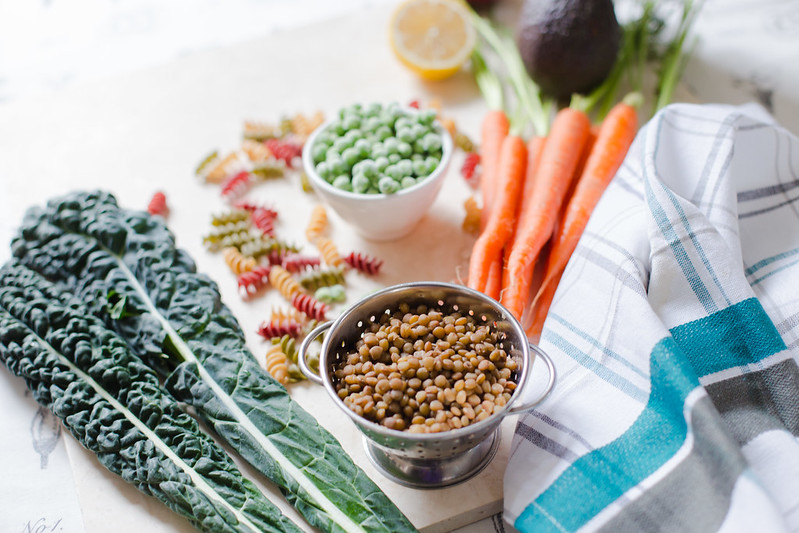 Pasta with Lentils and Vegetables