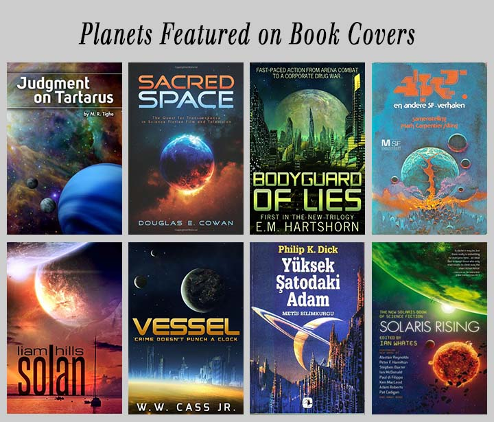 planets featured on book covers
