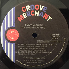 JIMMY McGRIFF:THE MEAN MACHINE(LABEL SIDE-A)