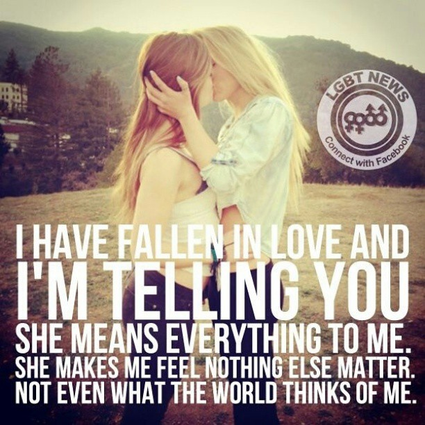 Short Sweet I Love You Quotes: Falling In Love #love #couple #cute #kisses #lesbians #lgb
