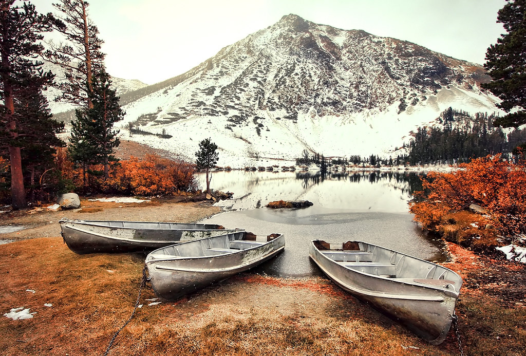The old fishing boats at little virginia lakes the old for Virginia lakes fishing