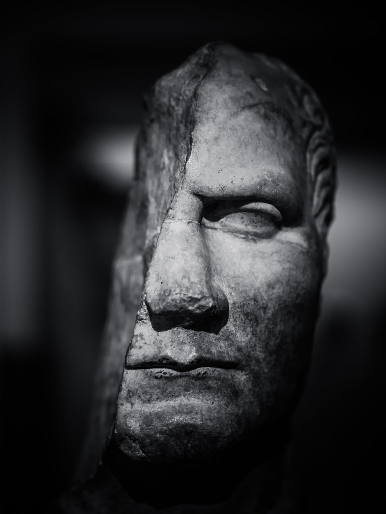 Julius Caesar Marble Head From A Statue Probably Of