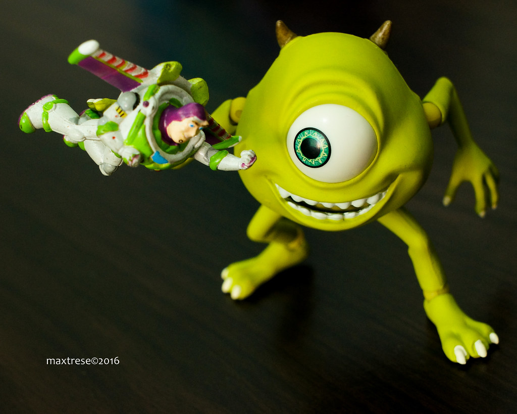 Revoltech Mike of Monsters, Inc. with Buzz Lightyear
