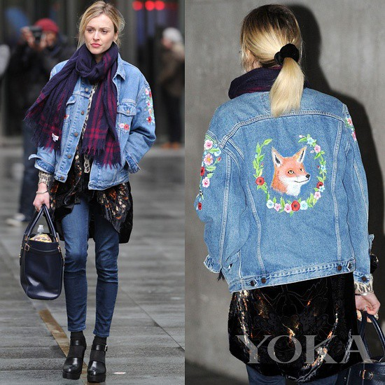 Local time in London on January 28, 2015, Fearne Cotton to the BBC Studios