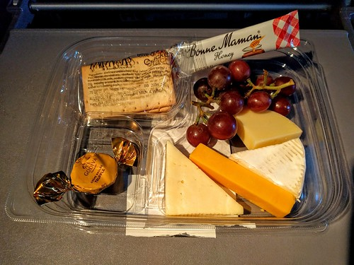 United Airlines' Bistro on Board Cheese Platter