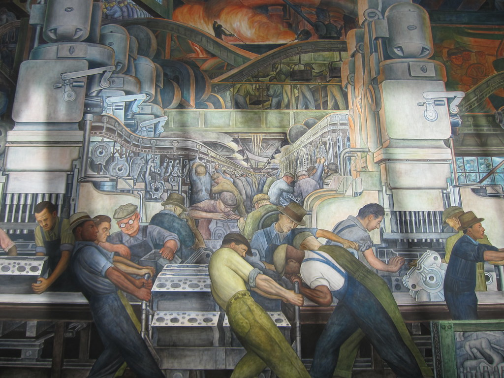 detroit industry mural by diego rivera at the detroit