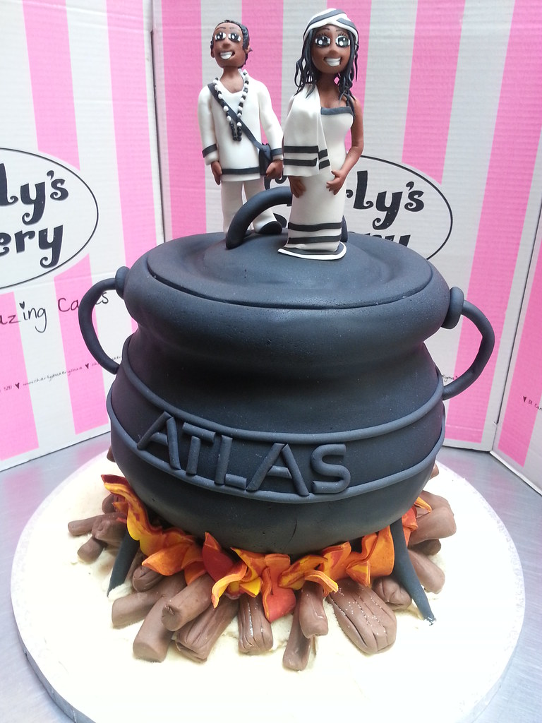 3d Potjie Pot Shaped Wicked Chocolate Wedding Cake With 3d