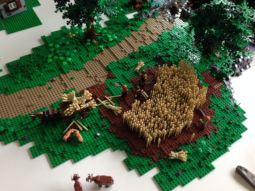 Lego grain field | These are pictures my creations that ...