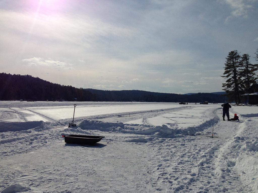 Ice fishing lake fairlee vt adamchandler86 flickr for Vermont fishing report