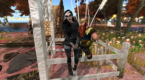 Standing On A Fence With Xiola Linden