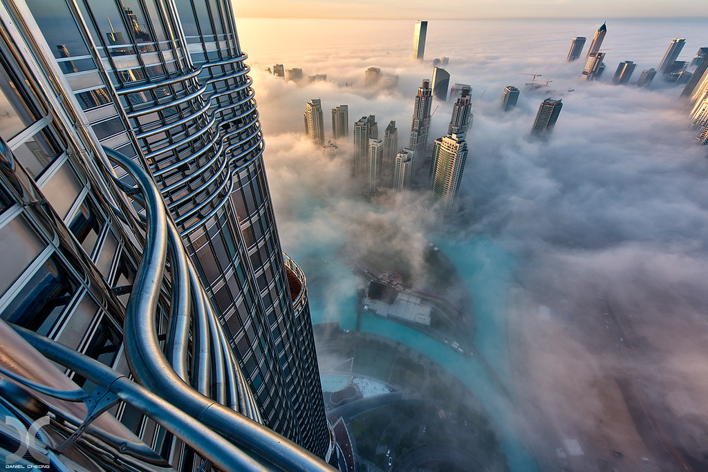 glassmetalfog shot from the 76th floor of burj khalifa