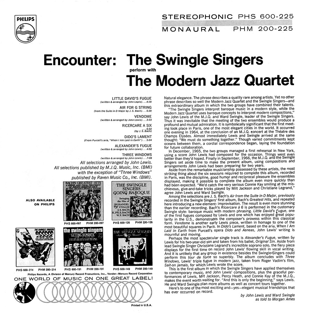 The Modern Jazz Quartet - Encounter