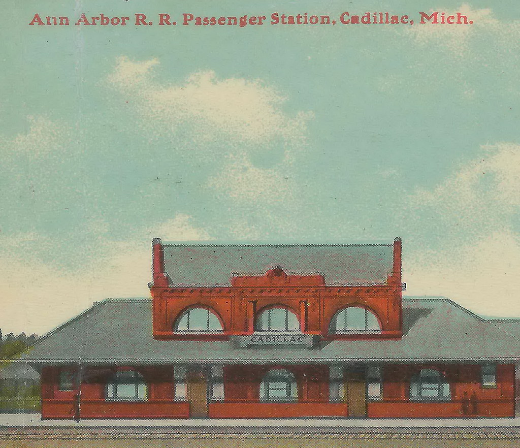NW Cadillac Wexford MI 1912 AARR DEPOT In 1887 The Ann Arb