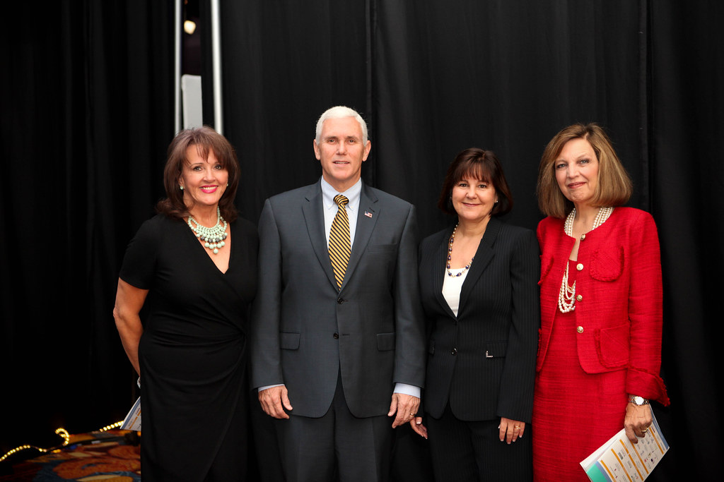 Billie Dragoo, Governor Mike Pence, First Lady Karen Pence… Flickr