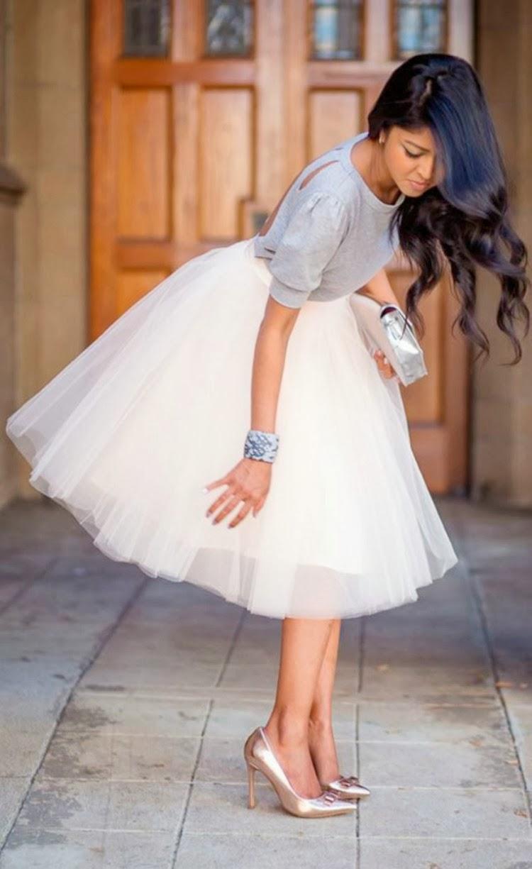 falda-tul-blanca-blusa-gris