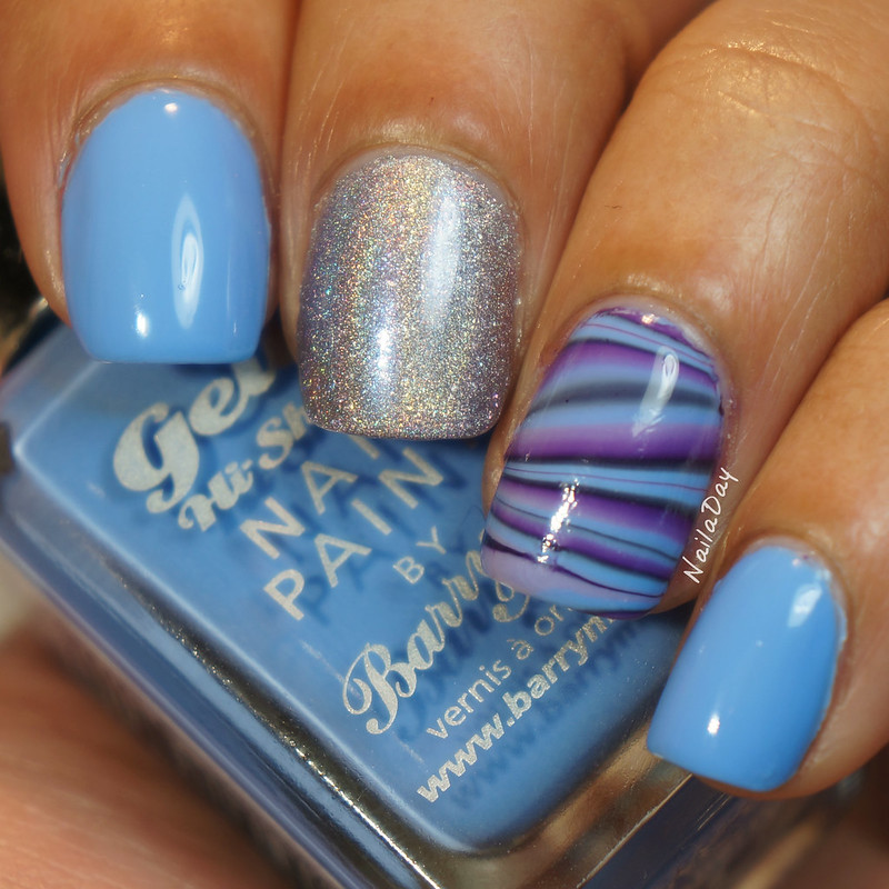 NailaDay: Barry M Blueberry with Orly Mirrorball
