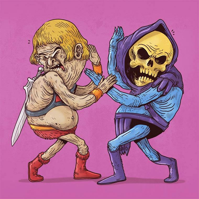 Famous Oldies by Alex Solis - He-Man Vs Skeletor