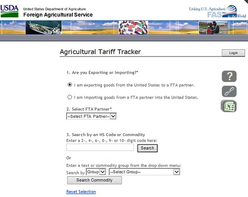 USDA Agricultural Tariff Tracker screenshot