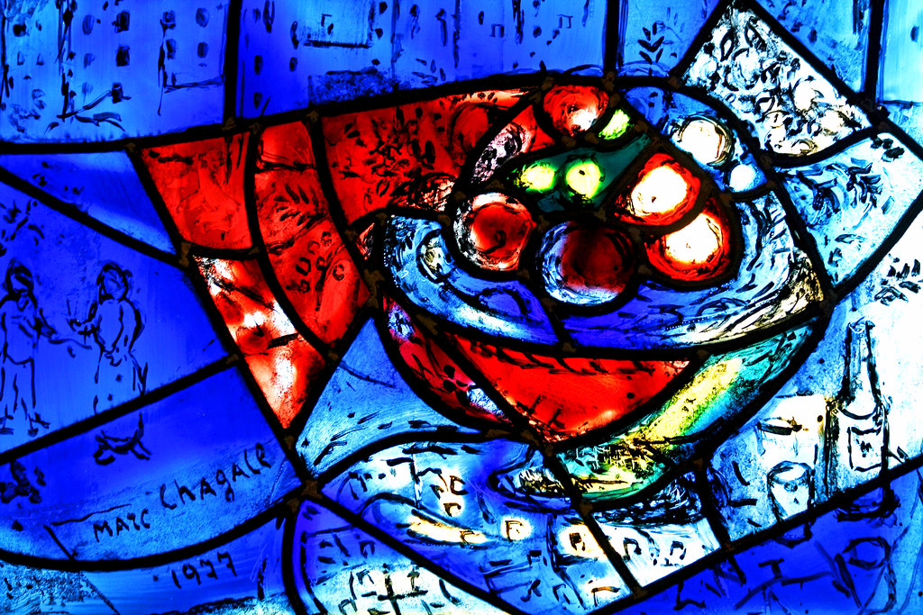 Marc chagall america windows detail art institute chica for Chagall mural chicago