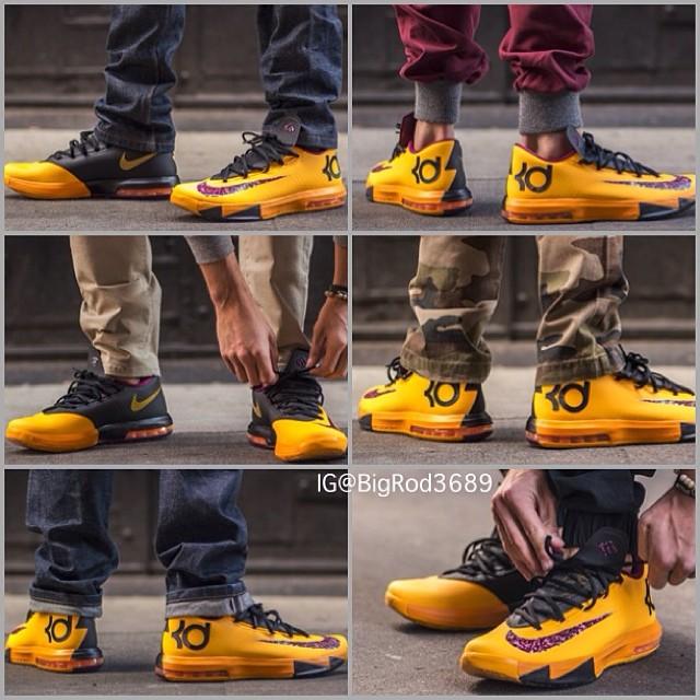 "Nike KD VI ""Peanut Butter & Jelly"" A Look On Feet... Price"