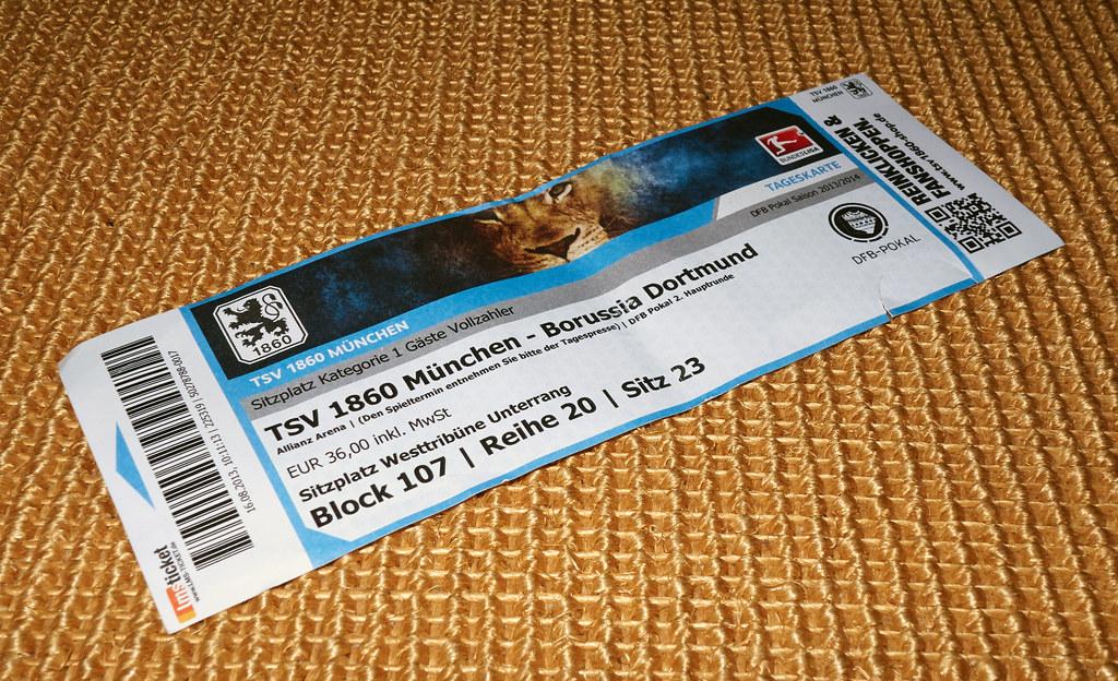 soccer ticket tsv 1860 muenchen vs bvb dortmund 09 flickr. Black Bedroom Furniture Sets. Home Design Ideas