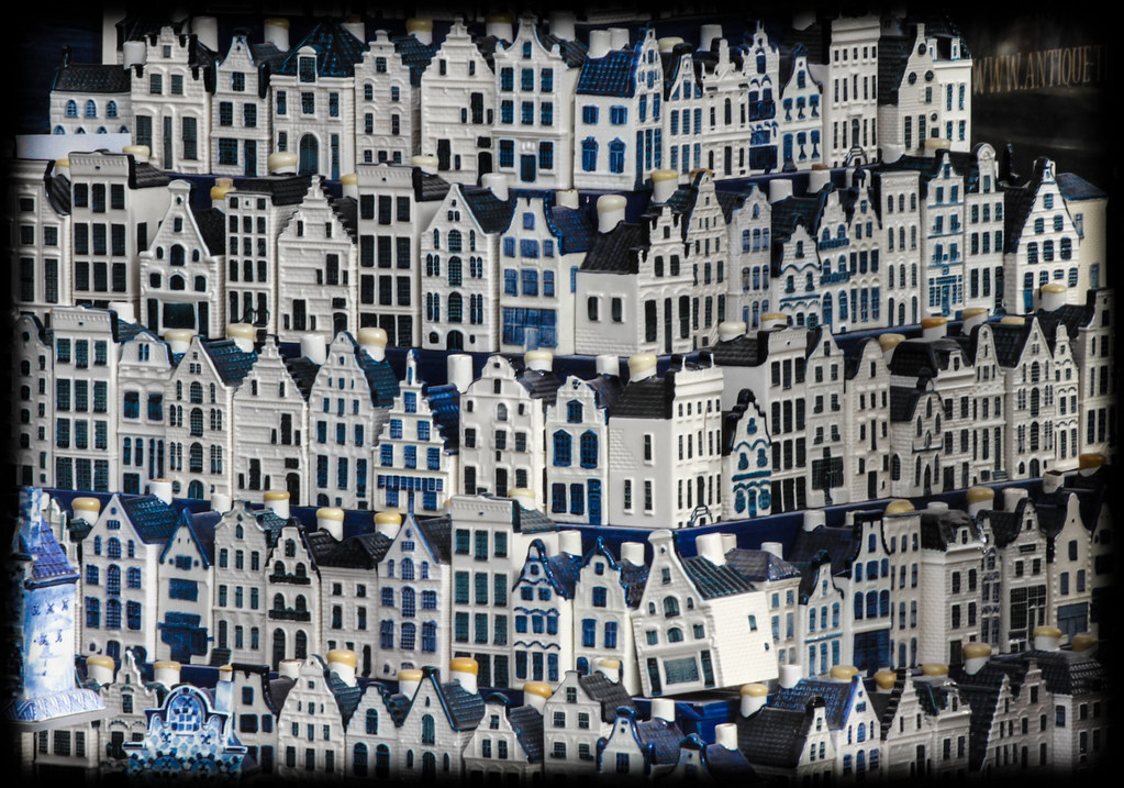 Amsterdam Klm Bols Canal Houses Gin Filled Delft Blue
