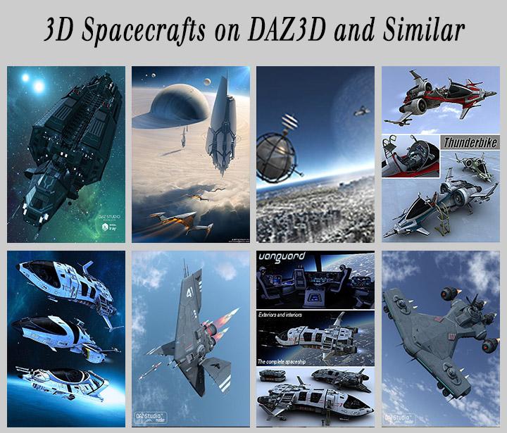 3D models spaceships