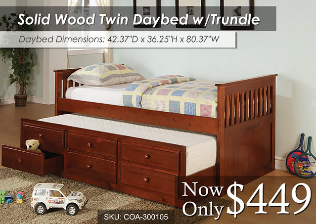 Solid Wood Twin Daybed