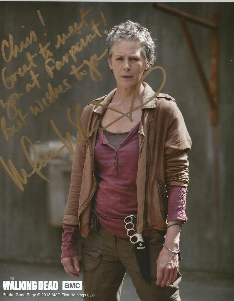 Melissa Walked Into The Cpc Terrified I Think I Am: Melissa McBride Carol Walking Dead