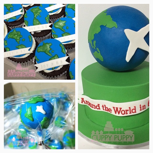 Around The World Theme Sweets Boy's 60th Birthday 2014-4-2
