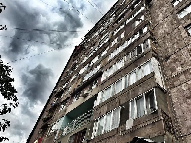 Bloque soviético en Ereván (Armenia)