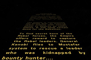 Opening Crawl for the Rebellion
