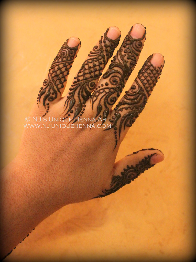 Mehndi Fingers Rating : Gulf henna fingers on myself for an event � nj s uniq