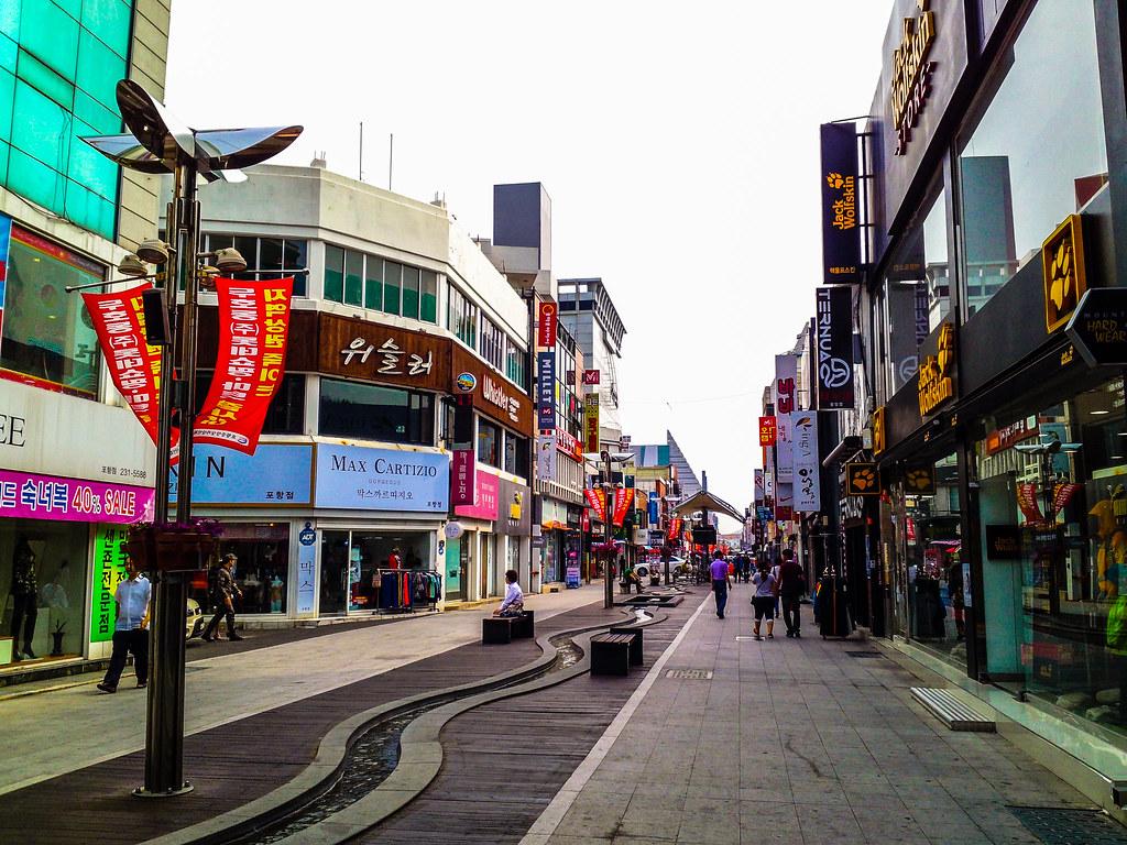 포항중앙상가(Street of Central Market, Pohang City, South Korea ...