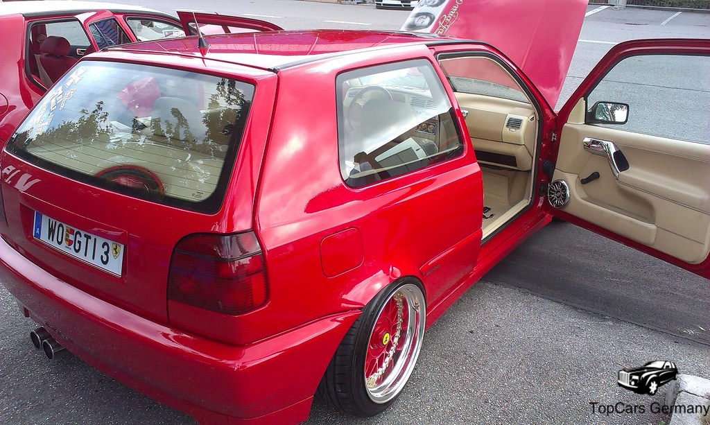 tuned vw golf 3 gti in ferrari red find me on twitter. Black Bedroom Furniture Sets. Home Design Ideas