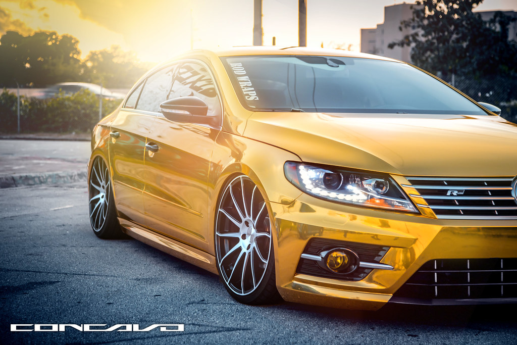 volkswagen cc gold bagged cw 12 matte black machined. Black Bedroom Furniture Sets. Home Design Ideas