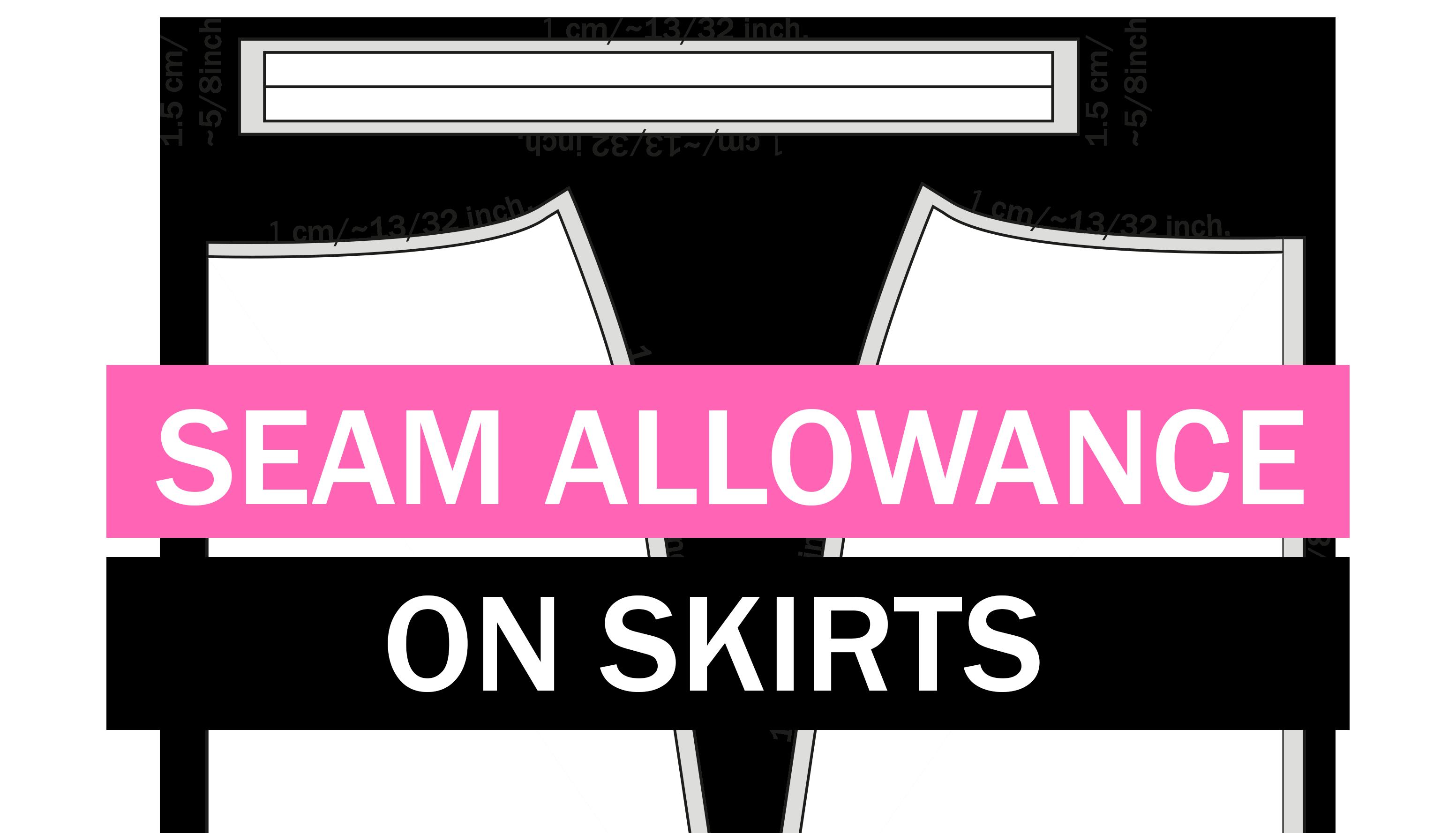Seam allowance on knits