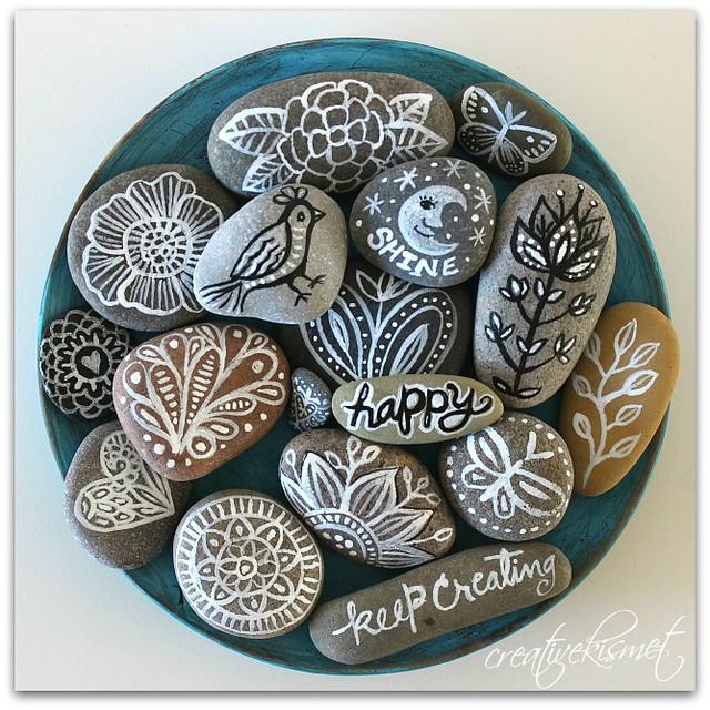 Zen Doodle Rocks by Regina Lord