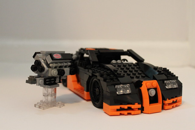 lego bugatti veyron super sport with engine flickr photo sharing. Black Bedroom Furniture Sets. Home Design Ideas