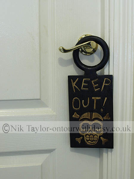 keep out sign on child 39 s bedroom door copyright nik taylo